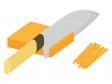 野菜の切り方・千切りのイラスト
