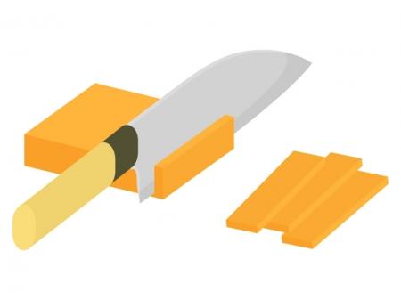 野菜の切り方・短冊切りのイラスト