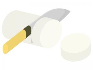 野菜の切り方・輪切りのイラスト