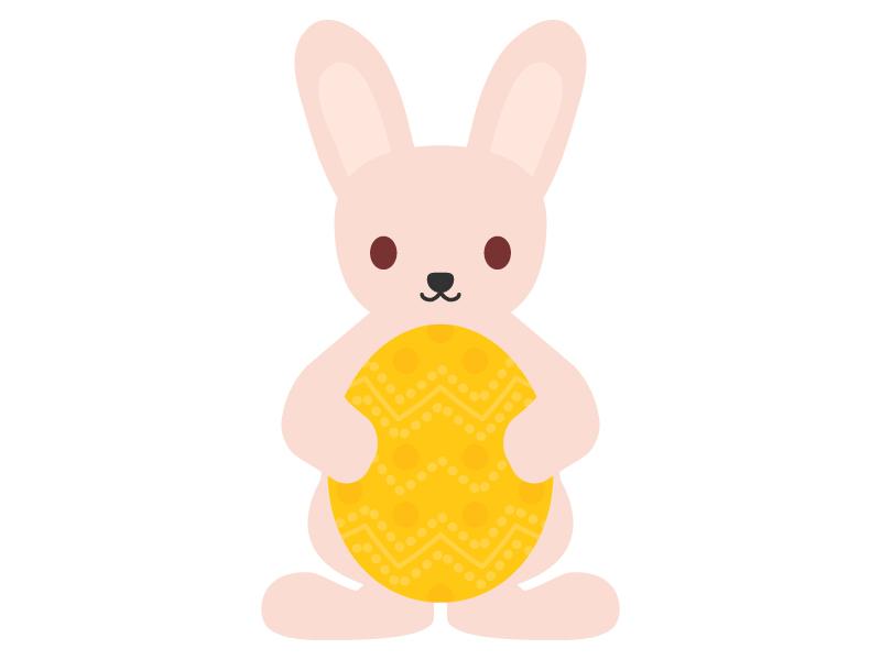 イースターエッグとウサギのイラスト