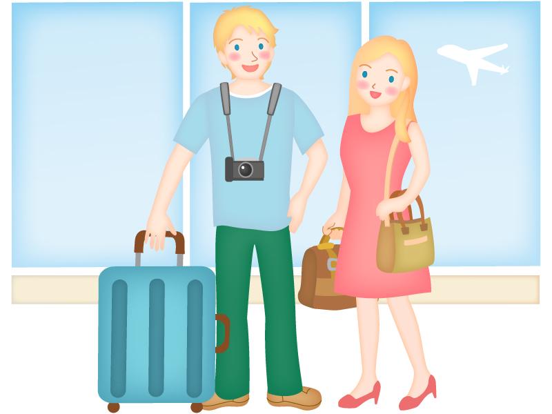 外国人旅行客のイラスト