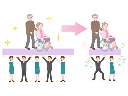 高齢化社会のイラスト