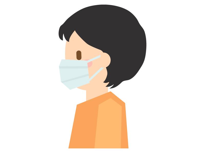 マスクをしている人のイラスト02