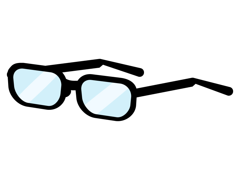 黒縁メガネのイラスト03