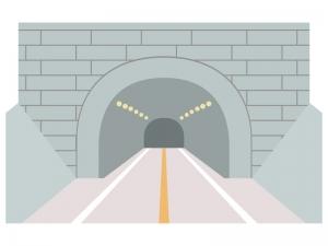 トンネルのイラスト