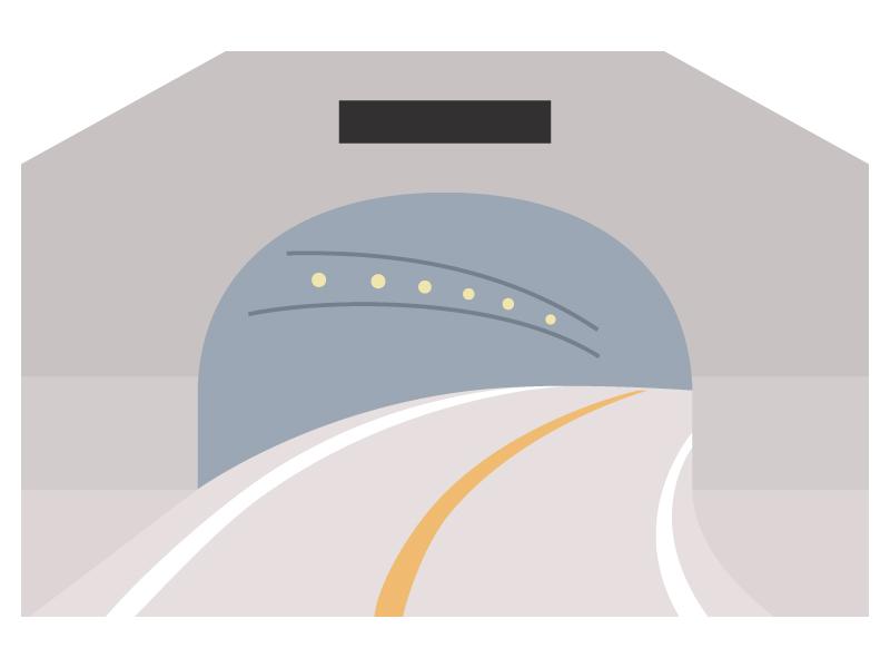 トンネルのイラスト02