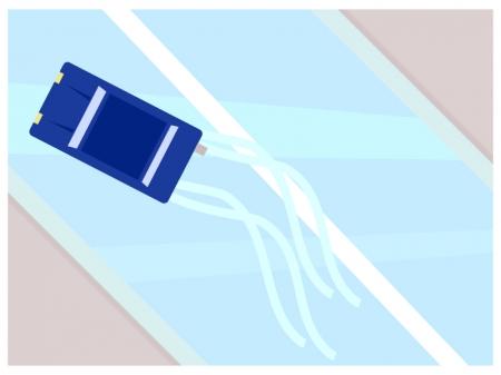 路面凍結で車が滑っているイラスト02