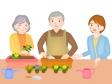 シニア向けの園芸セラピーのイラスト