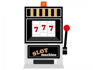カジノのスロットマシンのイラスト02