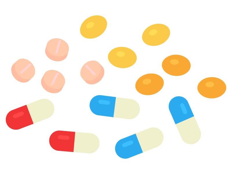 薬・サプリメントのイラスト