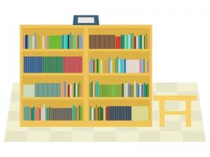 図書館(館内)のイラスト