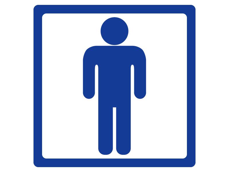 男性のトイレマークのイラスト
