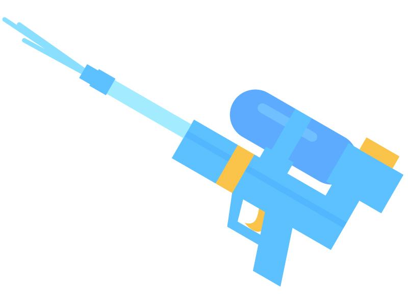 水鉄砲のイラスト02