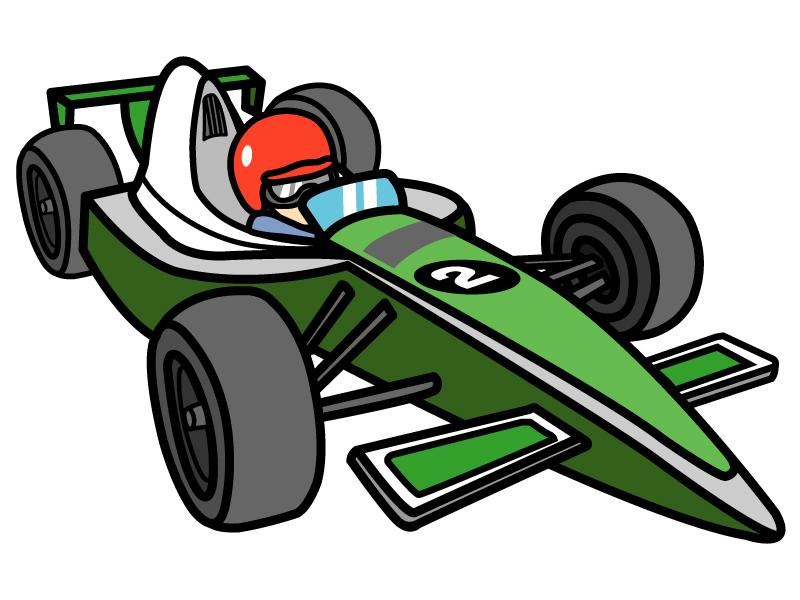 F1・フォーミュラカーのイラスト
