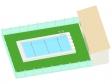 学校のプールのイラスト02