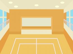 体育館(館内)のイラスト