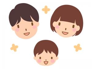 笑顔の家族のイラスト