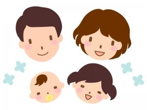 笑顔の家族のイラスト02