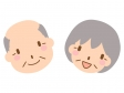 笑顔の老夫婦のイラスト