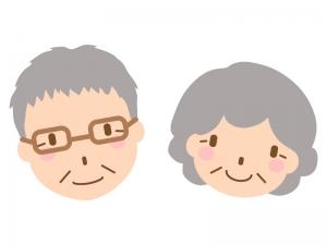 笑顔の老夫婦のイラスト02
