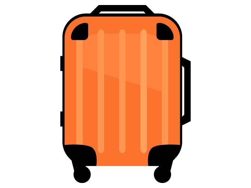 キャリーバッグ・スーツケースのイラスト