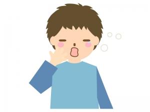 あくびをする人(男性)のイラスト