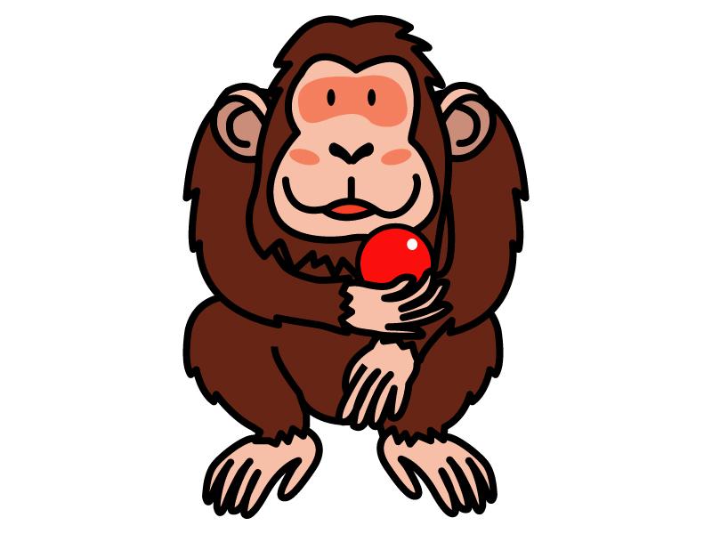 チンパンジーのイラスト