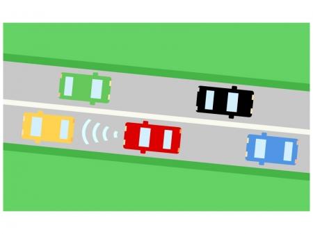 車の自動追従(ACC)のイラスト02