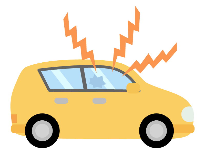 車の盗難装置が鳴っているイラスト02
