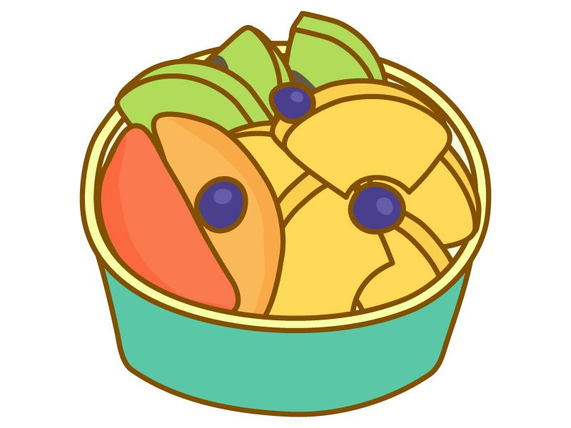 カットフルーツの盛り合わせのイラスト