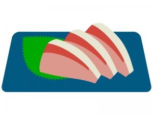 ブリのお刺身のイラスト