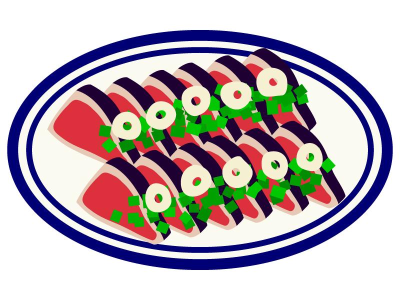 カツオ(鰹)のたたきのイラスト02