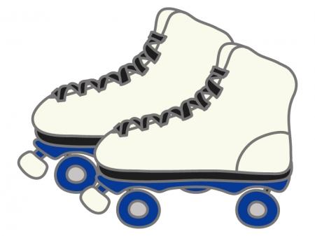 ローラースケートのイラスト