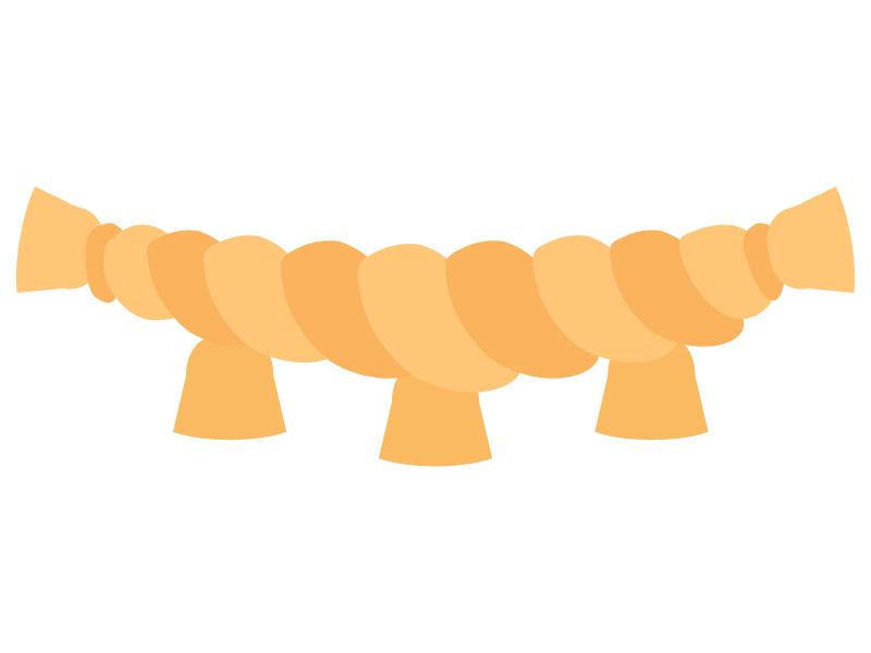 大きなしめ縄のイラスト