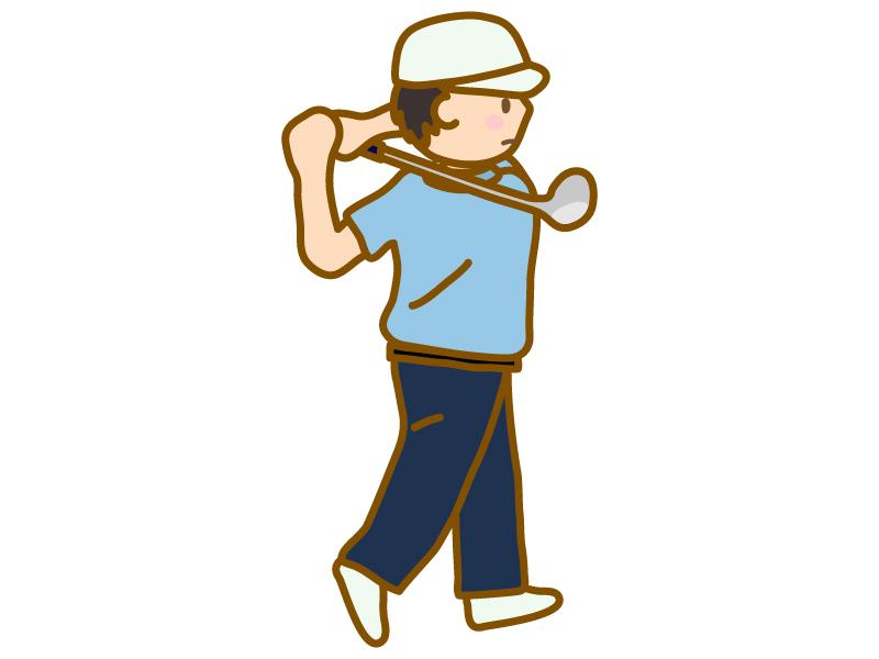 ゴルフスウィングのイラスト
