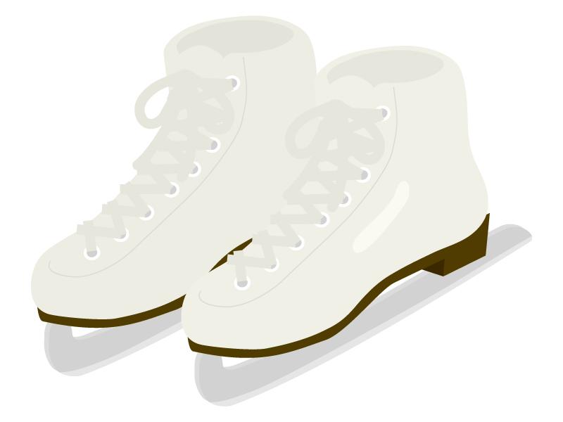 白いスケート靴のイラスト