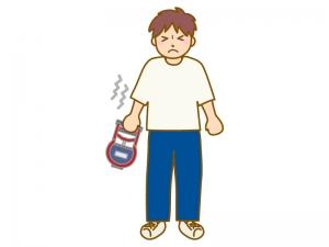 握力測定(男性)のイラスト
