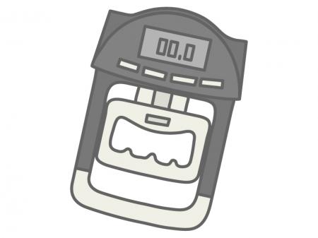 握力測定器(デジタル)のイラスト