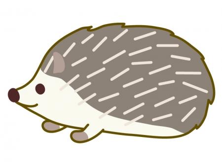 かわいいハリネズミのイラスト