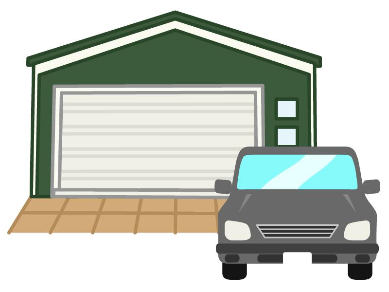 ガレージと車のイラスト02
