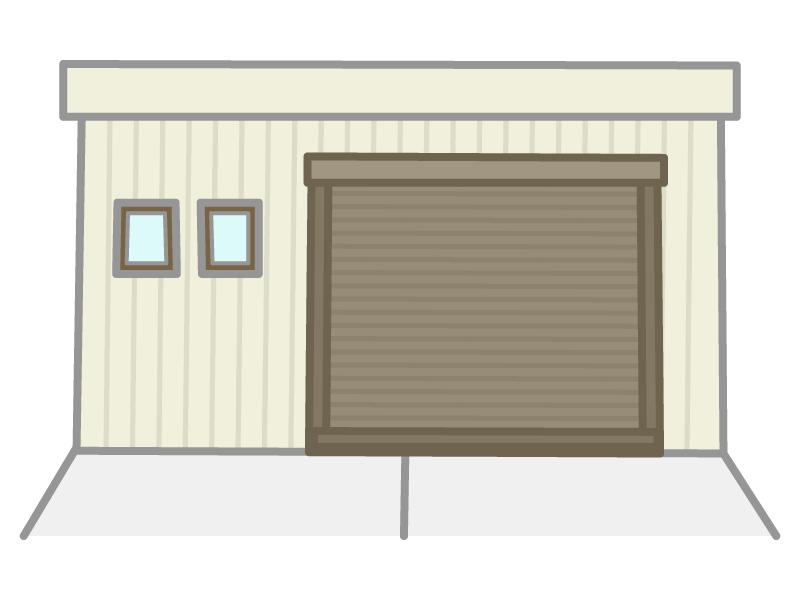 ガレージ・車庫のイラスト