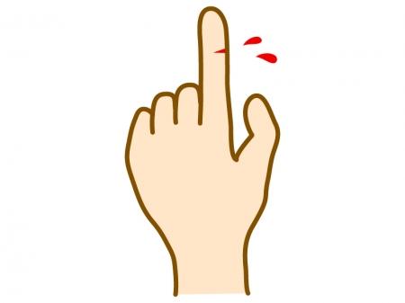 指を怪我しているイラスト