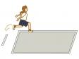 走り幅跳びのイラスト