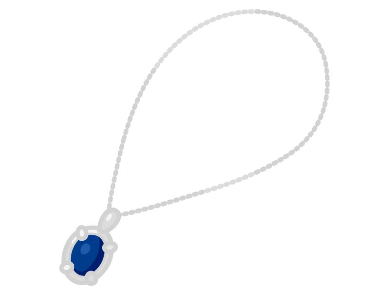 ネックレス・宝石のイラスト02