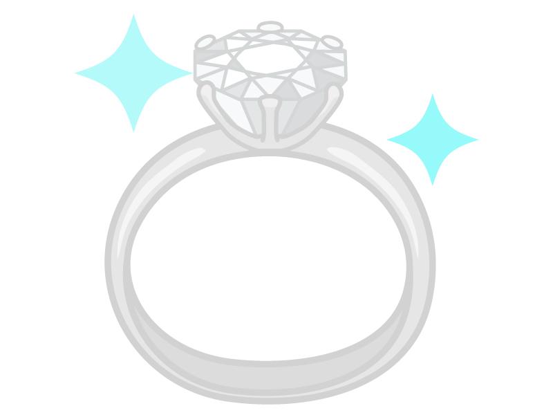 ダイヤの指輪(ブリリアントカット)のイラスト