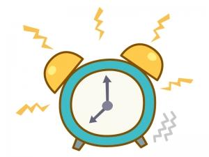 アラーム・目覚まし時計のイラスト