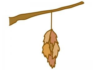 ミノムシ(蓑虫)のイラスト