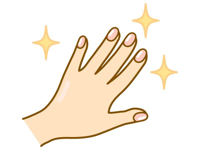 綺麗な手・指先のイラスト