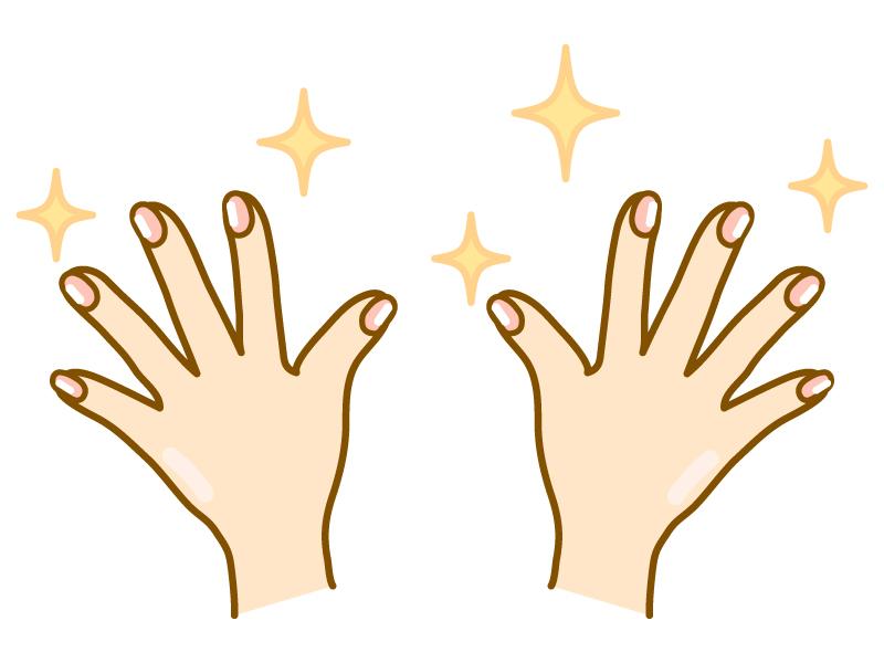 綺麗な手・指先(両手)のイラスト