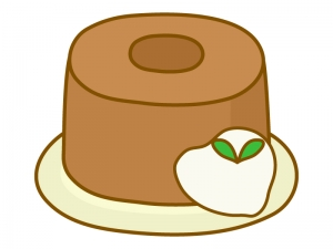 シフォンケーキのイラスト